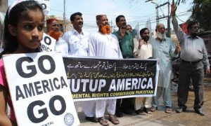 An anti-US protest in Pakistan