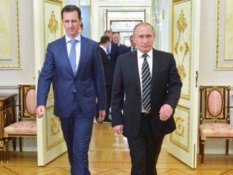 Putin receiving al-Assad